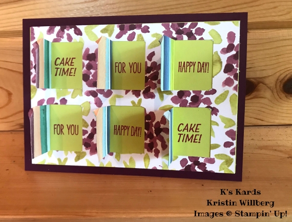 Blackberry Bliss - Lemon Lime Twist - Happy Birthday - K's Kards - Kristin Willberg - Stampin' Up