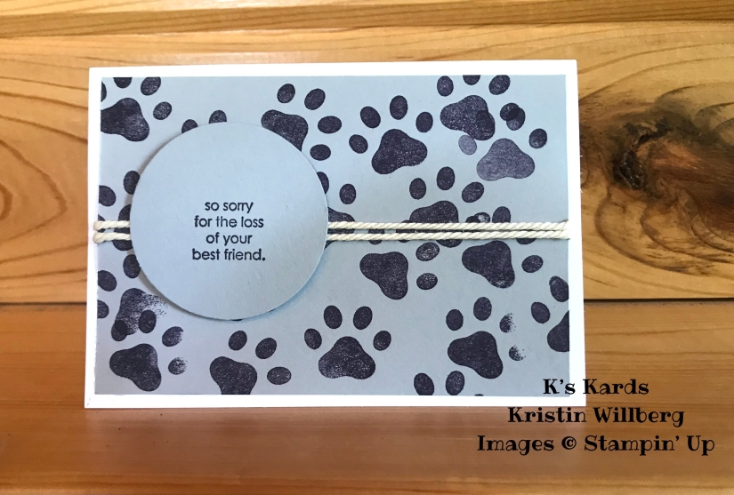 D is for Dog - Fresh Fig - Pet sympathy - K's Kards - Kristin Willberg - Stampin' Up!