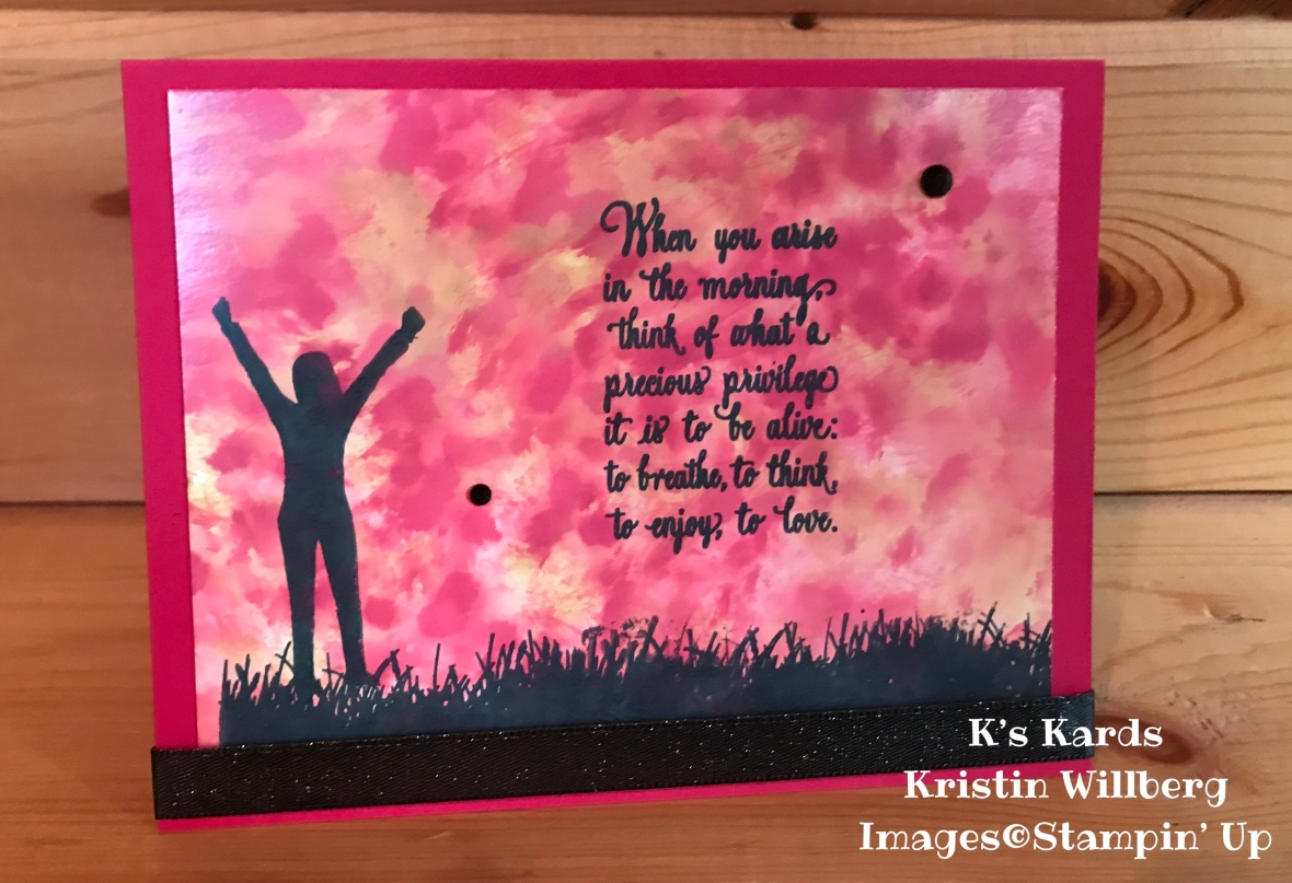 Enjoy Life - Polished Stone Technique - K's Kards - Kristin Willberg - Stampin' Up